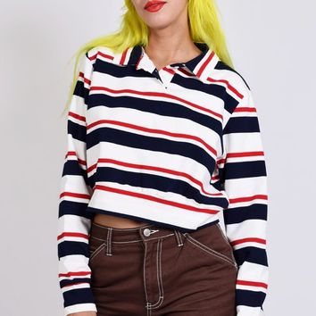 Elise Striped Rugby Top