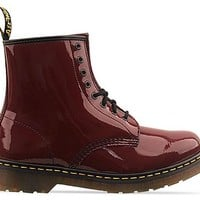 Dr. Martens 8 Eye Boot Mens in Cherry Red Rouge Patent at Solestruck.com