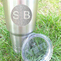Decals for Yeti Cup, Glitter decals, Custom decals