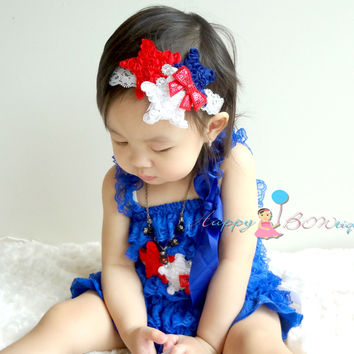 3pcs Shabby Stars Dress Set /  Baby Girl 4th of July Dress