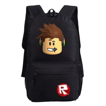 Student Backpack Children WISHOT Roblox Games Backpack School Bags camouflage Bag Fashion Students Backpack Travel Bag AT_49_3