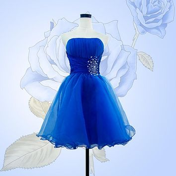Vestido De Festa 2016 Graduation Dresses Sexy Backless Royal Blue Short Prom Dresses Cheap Party Dress Special Occasion Dress