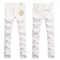 VERSACE Hot Sale Fashion Men Casual Denim Pants Trousers Jeans