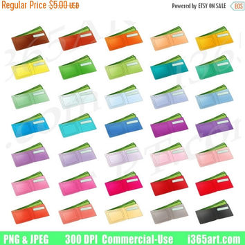 50% OFF Sale Wallet Clipart, Wallet Clip Art, Money Saving, PayDay, Pay Day, Cash, Planner Sticker Graphics, Scrapbooking, PNG, Commercial