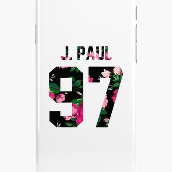 'Jake Paul - Colorful Flowers' iPhone Case/Skin by amandamedeiros