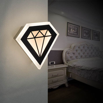 8.5W Modern Led Sconce Wall Lights For Bedroom Study Living Balcony Room Acrylic Home Decoration Led Wall Light Lamp Fixtures