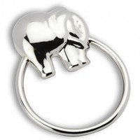 Krysaliis Sterling Silver Baby Rattle, Elephant Ring