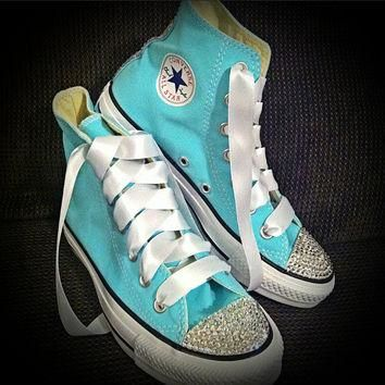 ADULT Tiffany Blue Blig Converse by Munchkenz on Etsy