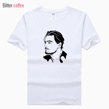 Leonardo DiCaprio Titanic Print Tshirt Original Design Fashion Casual Cotton T shirt  Men Casual Tops