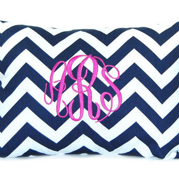 Monogrammed Pillow Personalized Home Decor Throw Pillow Cover 12 x 16 Baby Gift Dorm Decor Bridesmaid Gift