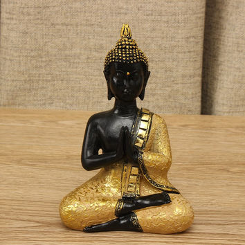 Thai Buddha Statue Praying Sitting Meditating Figurine Sculpture