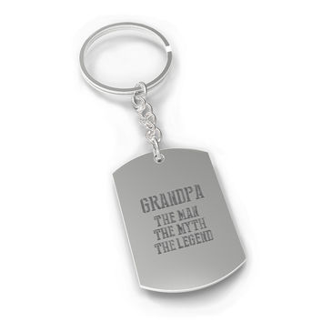 The Man Myth Legend Key Chain for Grandpa Holiday Gift idea for Grandfather