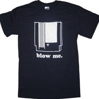 Nintendo Blow Me Game t-shirt Navy