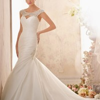 Mori Lee 2612 Beaded Neckline Wedding Dress
