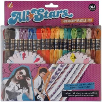 All Stars Friendship Bracelet Thread Party Pack Kit-
