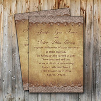 Special rustic wedding invitation with nice burlap printed design – printable wedding invites cards sample EWI249