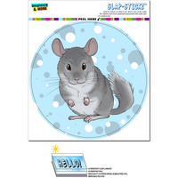 Chinchilla - Cute Pet Circle SLAP-STICKZ TM Premium Sticker