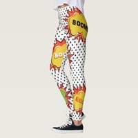 pop art explosion leggings