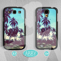 Road of Palm Trees - Samsung Galaxy S4 case Samsung Galaxy S3 case Phone Cases Phone Covers Samsung Cases AB-373