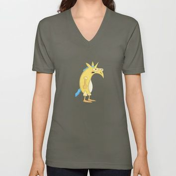 Flowers & Unicorns Unisex V-Neck by That's So Unicorny