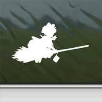 Kiki's Delivery Service Kiki Flying Sticker Decal Ghibli Laputa Jdm Anime Car Window