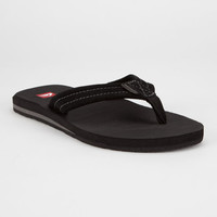 Quiksilver Carver Suede 2 Mens Sandals Black Combo  In Sizes