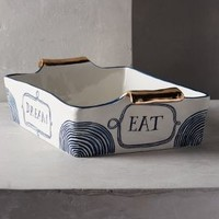 Ruan Hoffmann Dreambirds Lasagna Baking Dish in Blue Size: Lasagna Baking Dish House & Home
