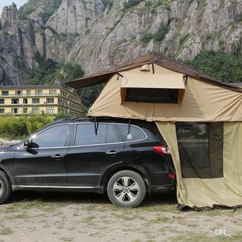 Outdoor Family Camping Tent On Car Two Person Traveling By Car The Soft-top Canvas Waterproof Tents Roof Tent Car Tent Tourism Naturehike