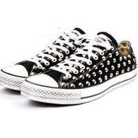 Custom Studded Spiked Converse Chuck Taylor Low Spikes Studs All-Star