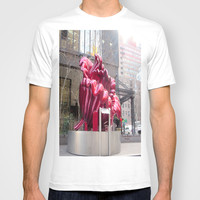 Public artwork - red flower T-shirt by Lucine
