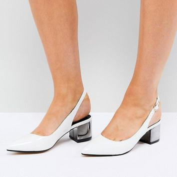 Truffle Collection Slingback Kitten heel Shoe at asos.com