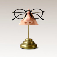 Nose Eyeglass Stand, Desk top organizer, Brass Base