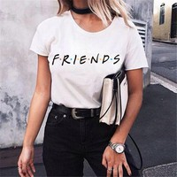Large size T-Shirt Top new Harajuku letter printing Summer Tops Fashion Casual Tees For Women Friends TV Show Shirt Gift T shirt