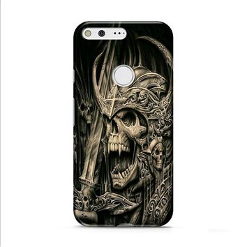 death skull gold Google Pixel XL 2 case