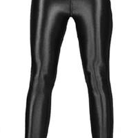 Black Shiny Disco Pants Design 622