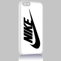 Nike Logo for Iphone 4 4s 5 5c 6 6plus Case (iphone 6 white)