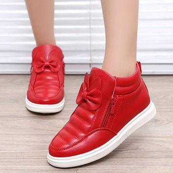 Kids Shoes Spring Girls PU Leather Sneaker Boy Flats Children Shoes Waterproof Boots Kids Girls Sneakers For Girls Trainers 838d