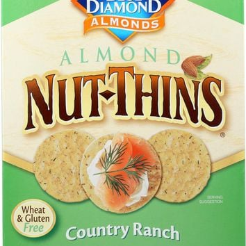 BLUE DIAMOND: Almond Nut-Thins Nut And Rice Cracker Snacks Country Ranch, 4.25 oz