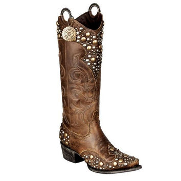 Double D Ranch Boots - Peralta Charcoal Brown - DD9026A