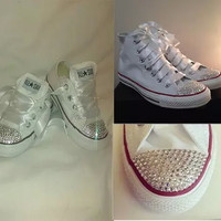 Swarovski Converse shoes - Free Shipping Hand Painted Shoes from denimtrend