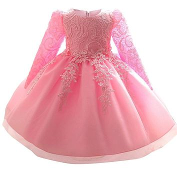 Winter Newborn Baby Baptism Dresses For Girls 1st Birthday Outfits Christening Gown Girl Party Wear Age 3 6 9 12 18 24 Months