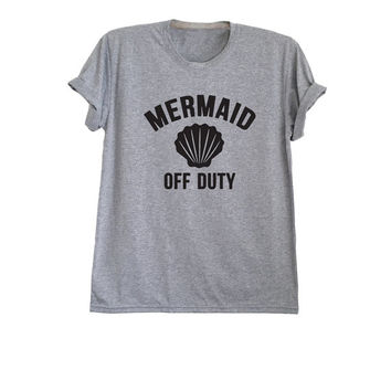 Mermaid shirt Mermaid off duty tshirt top outfit womens t-shirts gifts for teens size XS S M L