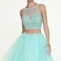 Short Two Piece Open Back Dress by Mori Lee
