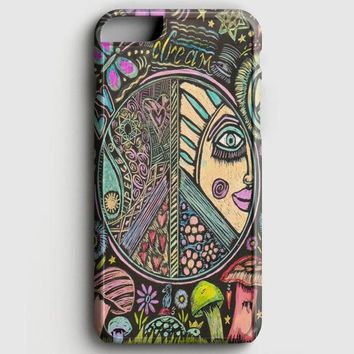 Hippie Scratch Board Mandala iPhone 8 Case