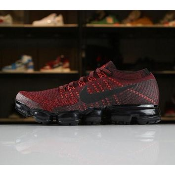 Nike Air VaporMax Flyknit 2018 Red 849558-601 Sport Running Shoes
