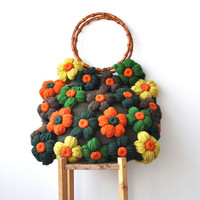Bag With Colorful Flowers by Afra Orange - Green