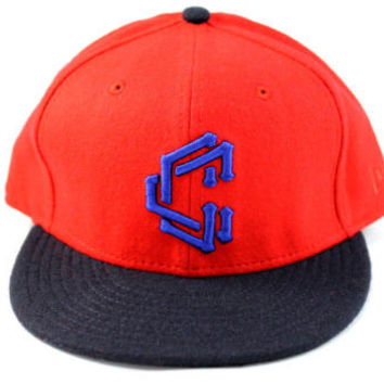 New Era Crooks & Castles Links Red/Black Fitted Hat 7 1/2