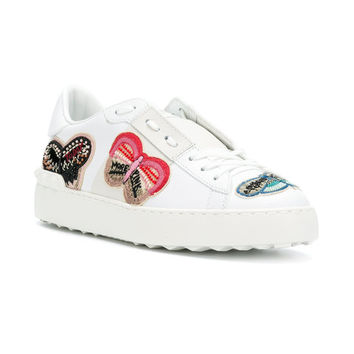Valentino Embellished Butterfly Sneakers - Farfetch
