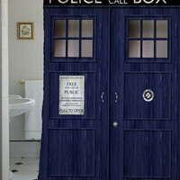 """doctor who shower curtain,Sizes available 36""""w x 72""""h   48""""w x 72""""h 60""""w x 72""""h 66""""w x 72""""h"""