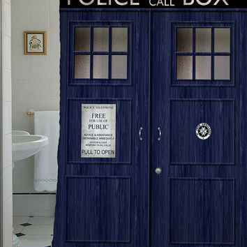 "doctor who shower curtain,Sizes available 36""w x 72""h   48""w x 72""h 60""w x 72""h 66""w x 72""h"